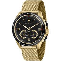 Ceasuri & Bijuterii Bărbați Ceasuri Analogice Maserati R8873612010, Quartz, 45mm, 10ATM Auriu