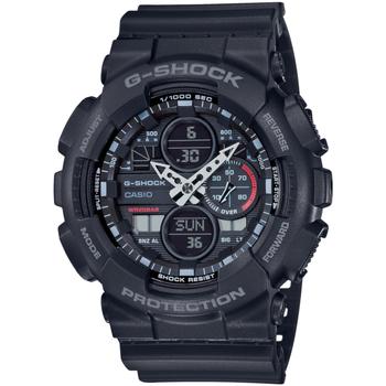 Ceasuri & Bijuterii Bărbați Cesuri Analogic- digital Casio GA-140-1A1ER, Quartz, 51mm, 20ATM Negru