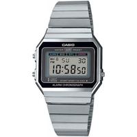 Ceasuri & Bijuterii Bărbați Ceasuri Digitale Casio A700WE-1AEF, Quartz, 33mm, 3ATM Argintiu