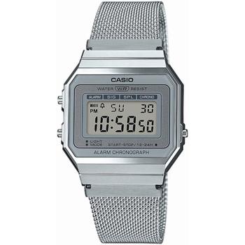 Ceasuri & Bijuterii Bărbați Ceasuri Digitale Casio A700WEM-7AEF , Quartz, 33mm, 3ATM Argintiu