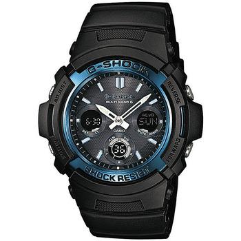 Ceasuri & Bijuterii Bărbați Cesuri Analogic- digital Casio AWG-M100A-1AER, Quartz, 46mm, 20ATM Negru
