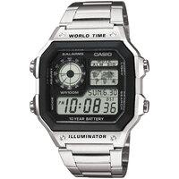 Ceasuri & Bijuterii Bărbați Ceasuri Digitale Casio AE-1200WHD-1AVEF, Quartz, 42mm, 10ATM Argintiu