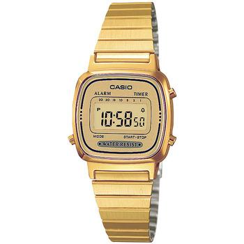 Ceasuri & Bijuterii Femei Ceasuri Digitale Casio LA670WEGA-9EF, Quartz, 24mm, 1ATM Auriu