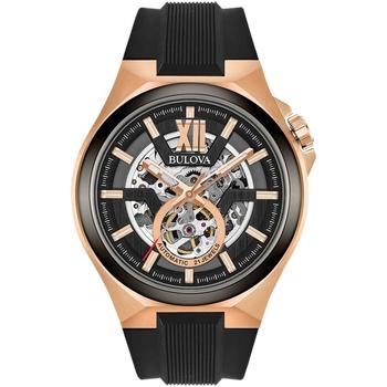 Ceasuri & Bijuterii Bărbați Ceasuri Analogice Bulova 98A177, Automatic, 46mm, 10ATM Auriu