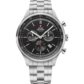 Ceasuri & Bijuterii Bărbați Ceasuri Analogice Swiss Military By Chrono SM34081.01, Quartz, 42mm, 10ATM Argintiu