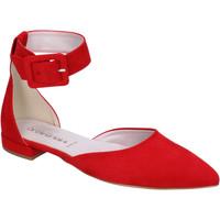 Pantofi Femei Balerin și Balerini cu curea Olga Rubini Decollete Camoscio sintetico Rosso
