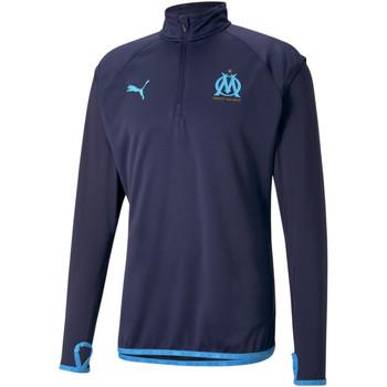 Îmbracaminte Bărbați Bluze îmbrăcăminte sport  Puma Sweat OM Warmup bleu foncé/bleu azur