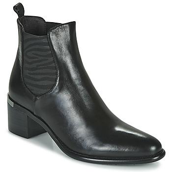 Pantofi Femei Botine Adige DIVA V1 VEAU GARNET NOIR Negru
