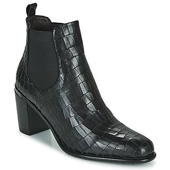 Pantofi Femei Botine Adige FANNY V5 CROCO NOIR Negru