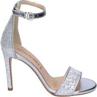 Pantofi Femei Sandale  Olga Rubini Sandali Glitter Pelle sintetica Argento
