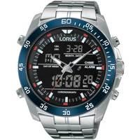 Ceasuri & Bijuterii Bărbați Cesuri Analogic- digital Lorus RW623AX9, Quartz, 46mm, 10ATM Argintiu