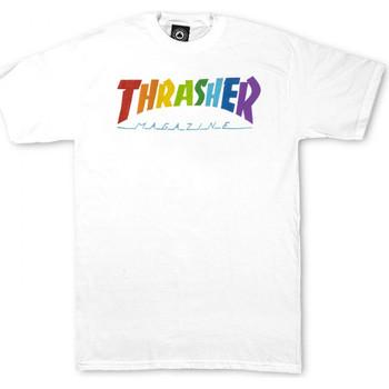 Îmbracaminte Bărbați Tricouri mânecă scurtă Thrasher T-shirt rainbow mag ss Alb