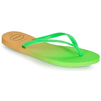 Pantofi Femei  Flip-Flops Havaianas SLIM GRADIENT Alb / Verde