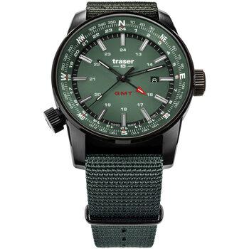 Ceasuri & Bijuterii Bărbați Ceasuri Analogice Traser H3 109035, Quartz, 46mm, 10ATM Negru