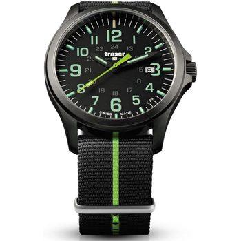 Ceasuri & Bijuterii Bărbați Ceasuri Analogice Traser H3 107426, Quartz, 42mm, 10ATM Negru