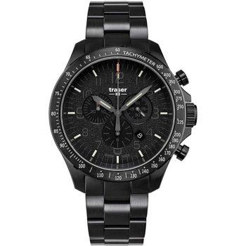 Ceasuri & Bijuterii Bărbați Ceasuri Analogice Traser H3 109466, Quartz, 46mm, 10ATM Negru