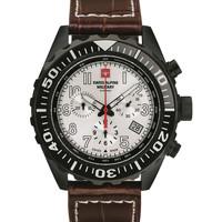 Ceasuri & Bijuterii Bărbați Ceasuri Analogice Swiss Alpine Military 7076.9572, Quartz, 44mm, 10ATM Negru