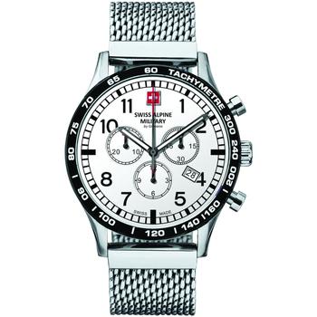 Ceasuri & Bijuterii Bărbați Ceasuri Analogice Swiss Alpine Military 1746.9132, Quartz, 43mm, 10ATM Argintiu