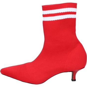 Pantofi Femei Botine Olga Rubini Botine BJ427 Roșu