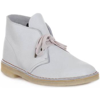 Pantofi Ghete Clarks DESERT BOOT M WHITE Bianco