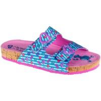 Pantofi Fete Papuci de vară Skechers Granola Albastre, Roz