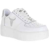 Pantofi Femei Sneakers Windsor Smith RICH BRAVE WHITE SILVER PERLISHED Bianco