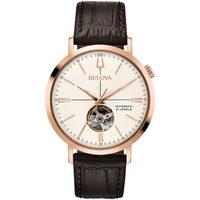 Ceasuri & Bijuterii Bărbați Ceasuri Analogice Bulova 97A136, Automatic, 41mm, 3ATM Auriu