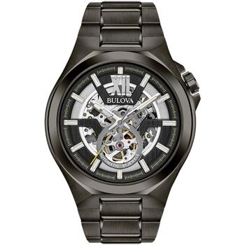 Ceasuri & Bijuterii Bărbați Ceasuri Analogice Bulova 98A179, Automatic, 46mm, 10ATM Negru