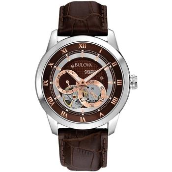 Ceasuri & Bijuterii Bărbați Ceasuri Analogice Bulova 96A120, Automatic, 42mm, 3ATM Argintiu