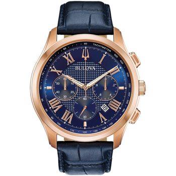 Ceasuri & Bijuterii Bărbați Ceasuri Analogice Bulova 97B170, Quartz, 46mm, 3ATM Auriu