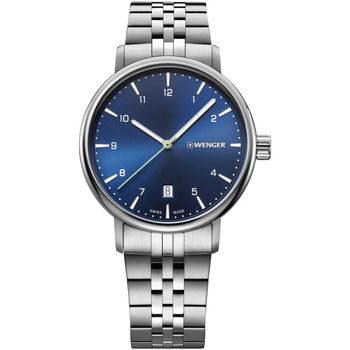 Ceasuri & Bijuterii Bărbați Ceasuri Analogice Wenger 01.1731.121, Quartz, 40mm, 10ATM Argintiu