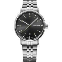 Ceasuri & Bijuterii Bărbați Ceasuri Analogice Wenger 01.1731.120, Quartz, 40mm, 10ATM Argintiu