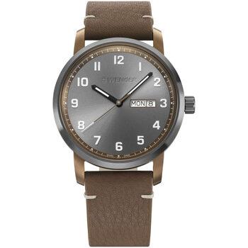 Ceasuri & Bijuterii Bărbați Ceasuri Analogice Wenger 01.1541.123, Quartz, 42mm, 10ATM Maro