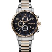 Ceasuri & Bijuterii Bărbați Ceasuri Analogice Wenger 01.1543.116, Quartz, 44mm, 10ATM Auriu