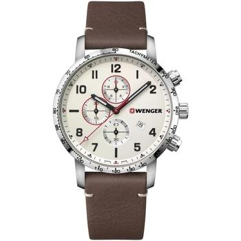 Ceasuri & Bijuterii Bărbați Ceasuri Analogice Wenger 01.1543.113, Quartz, 44mm, 10ATM Argintiu