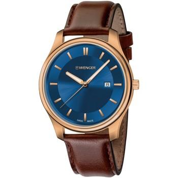 Ceasuri & Bijuterii Bărbați Ceasuri Analogice Wenger 01.1441.119, Quartz, 43mm, 3ATM Auriu
