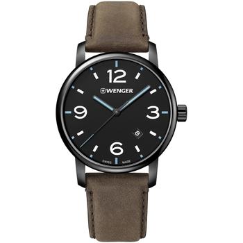 Ceasuri & Bijuterii Bărbați Ceasuri Analogice Wenger 01.1741.135, Quartz, 44mm, 10ATM Negru
