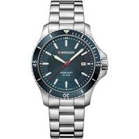 Ceasuri & Bijuterii Bărbați Ceasuri Analogice Wenger 01.0641.129, Quartz, 43mm, 20ATM Argintiu