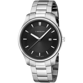 Ceasuri & Bijuterii Bărbați Ceasuri Analogice Wenger 01.1441.104, Quartz, 43mm, 3ATM Argintiu
