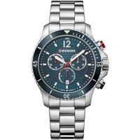 Ceasuri & Bijuterii Bărbați Ceasuri Analogice Wenger 01.0643.115, Quartz, 43mm, 20ATM Argintiu