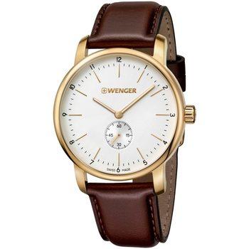Ceasuri & Bijuterii Bărbați Ceasuri Analogice Wenger 01.1741.124, Quartz, 42mm, 10ATM Auriu