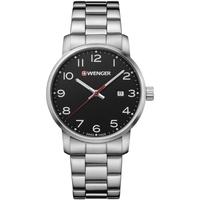 Ceasuri & Bijuterii Bărbați Ceasuri Analogice Wenger 01.1641.102, Quartz, 42mm, 10ATM Argintiu