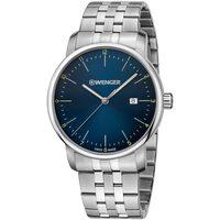 Ceasuri & Bijuterii Bărbați Ceasuri Analogice Wenger 01.1741.123, Quartz, 42mm, 10ATM Argintiu