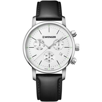 Ceasuri & Bijuterii Bărbați Ceasuri Analogice Wenger 01.1743.118, Quartz, 44mm, 10ATM Argintiu