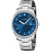Ceasuri & Bijuterii Bărbați Ceasuri Analogice Wenger 01.1441.117, Quartz, 43mm, 3ATM Argintiu