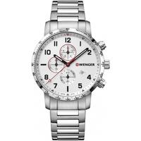 Ceasuri & Bijuterii Bărbați Ceasuri Analogice Wenger 01.1543.110, Quartz, 44mm, 10ATM Argintiu
