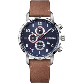 Ceasuri & Bijuterii Bărbați Ceasuri Analogice Wenger 01.1543.108, Quartz, 44mm, 10ATM Argintiu