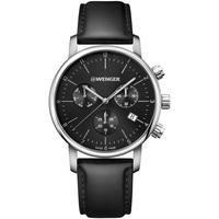 Ceasuri & Bijuterii Bărbați Ceasuri Analogice Wenger 01.1743.102, Quartz, 44mm, 10ATM Argintiu