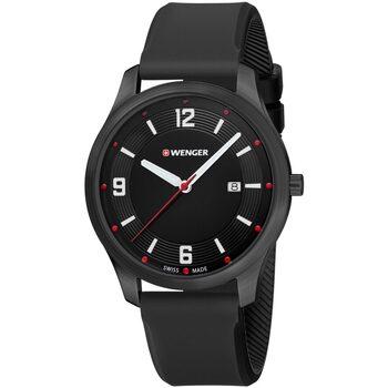 Ceasuri & Bijuterii Bărbați Ceasuri Analogice Wenger 01.1441.111, Quartz, 43mm, 3ATM Negru