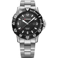 Ceasuri & Bijuterii Bărbați Ceasuri Analogice Wenger 01.0641.131, Quartz, 43mm, 20ATM Argintiu